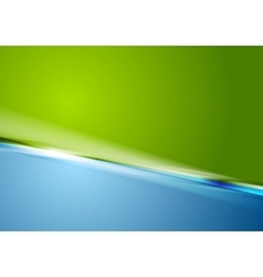 Abstract contrast green blue background vector