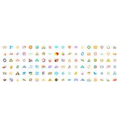 abstract logos mega collection vector image