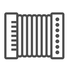 accordion line icon musical and instrument vector image