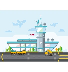 Airport Modern Flat Design vector image
