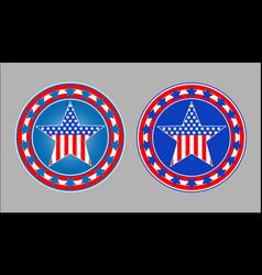 american patriotic star symbol vector image
