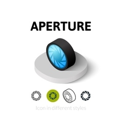Aperture icon in different style vector image