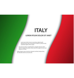 Background with italian flag and free space vector