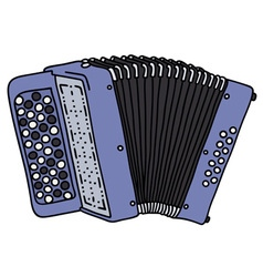 Blue accordion vector image
