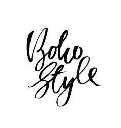 boho style inspirational quote dry brush vector image
