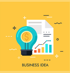 business idea flat concept vector image
