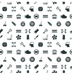 Car spare parts seamless pattern vector
