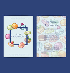 card flyer or brochure template for sweet vector image