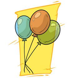 cartoon colored air balloons icon vector image