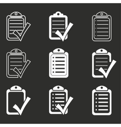 Checklist icon set vector