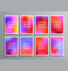 Colorful gradient backgrounds for flyer poster vector