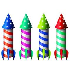 Colorful rockets vector image