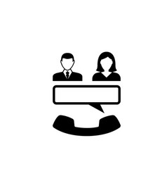 conference call flat icon vector image