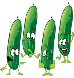 cucumber - funny cartoon vector image