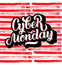 Cyber monday sale handmade lettering calligraphy vector