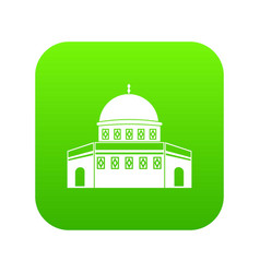 dome of the rock on the temple mount icon digital vector image