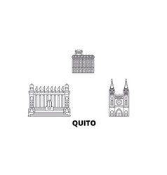 ecuador guayaquil quito line travel skyline set vector image