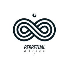endless infinity loop symbol conceptual logo vector image