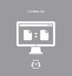 exchange data - minimal flat icon vector image