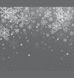 Falling shining transparent snow vector