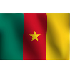 flag of cameroon - vector image