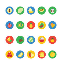 Fruit and Vegetable Icons 2 vector