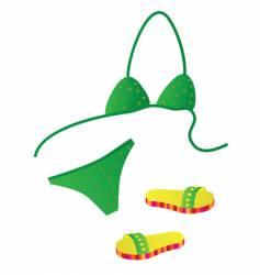Girl in bikini vector