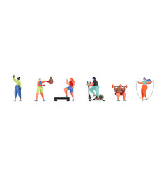 gym and sport flat isolated vector image