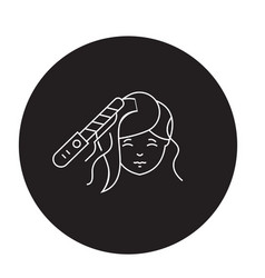 hair styling black concept icon hair vector image