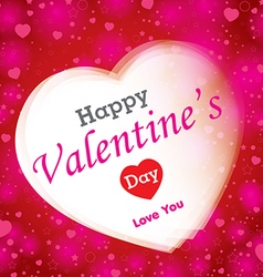 Happy Valantines Day on red background vector image