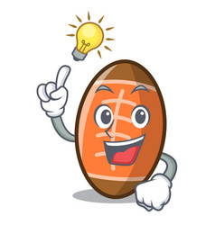Have an idea rugby ball mascot cartoon vector