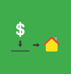 icon concept of dollar symbol with moneybox hole vector image