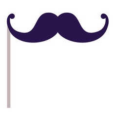 isolated mustache of celebration design vector image