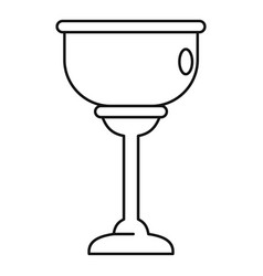 Jewish cup icon outline style vector