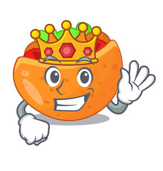 King pita bread filled with vegetable mascot vector