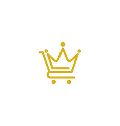 king shopping logo icon design vector image