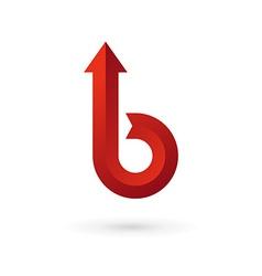 Letter B arrow ribbon logo icon design template vector image