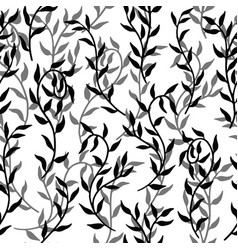 liana spreads leaves creeper seamless pattern vector image