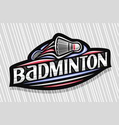 Logo for badminton vector