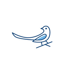 magpie bird logo icon vector image