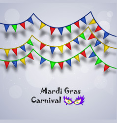 Mardi gras carnival background vector