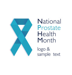 Men health prostate cancer november awareness vector