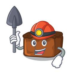 Miner brownies mascot cartoon style vector