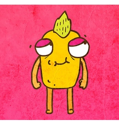 Monster with mohawk cartoon vector