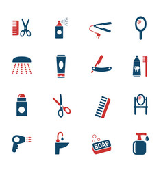 Personal care icon set vector
