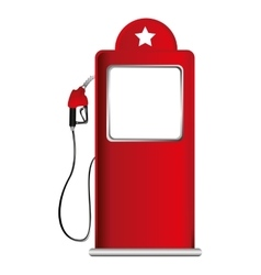 Pump oil fuel isolated icon vector