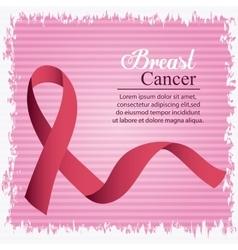Ribbon breast cancer design vector