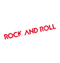 Rock and roll rubber stamp vector