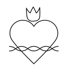 Sacred heart line icon vector