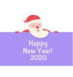santa claus celebration banner vector image